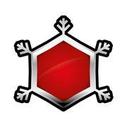 Snowflake icon. Winter design. Vector graphic Stock Illustration