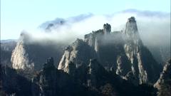 Winter Landscape of Seoraksan Mountain in Inje-gun, Gangwon-do, Korea Stock Footage