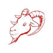 Goat icon. Wild animal design. Vector graphic - stock illustration