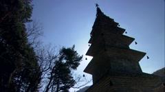Traditional Temple in Jungsun-gun, Gangwon-do, Korea Stock Footage