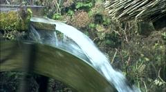 Landscape with waterwheel in Jungsun-gun, Gangwon-do, Korea Stock Footage