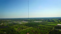 AERIAL - View of a telecommunications antena.  Stock Footage