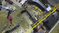 Building site engineering aerial shot Stock Footage