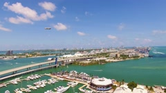 AERIAL VIEW OF BAYFRONT PARK - MIAMI  Stock Footage