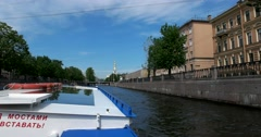 Tour of the canals, Kryukov Canal, Saint Petersburg Stock Footage