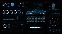 Futuristic digital interface screen Arkistovideo