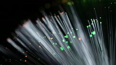 Optical fiber network Stock Footage