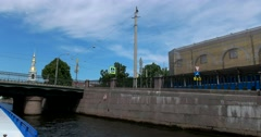 Tour of the canals of Saint Petersburg, Kryukov Canal Stock Footage
