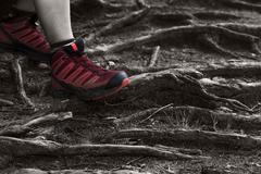 Standing on a rough terrain Stock Photos