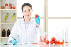 this is the answer for gmo food - stock photo