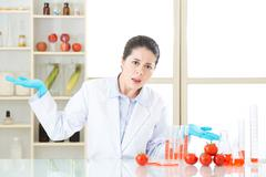 why eat genetic modification food, it is not health - stock photo