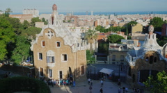 BARCELONA, Spain : shot in Parc Guell, one of the city's major Stock Footage