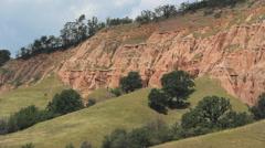 The Red Ravine near Sebes, Romania Stock Footage