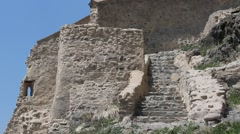Detail of old ancient well preserved fortress wall Stock Footage