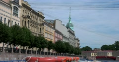 Tour of the canals of Saint Petersburg, Moika river Stock Footage