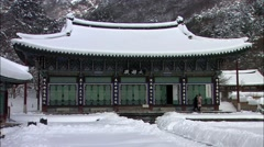 Winter in Jangseong-gun, Jeollanam-do, Korea Stock Footage