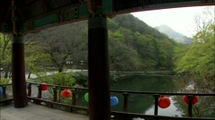 Waterfall in Jangseong-gun, Jeollanam-do, Korea - stock footage