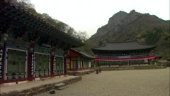 Temple in Jangseong-gun, Jeollanam-do, Korea Stock Footage