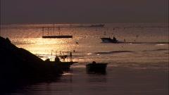 Fishing boat in Jindo-gun, Jeollanam-do, Korea Stock Footage