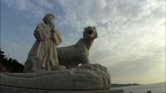 Statue in Jindo-gun, Jeollanam-do, Korea Stock Footage