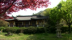 Ancient structure in Jindo-gun, Jeollanam-do, Korea Stock Footage