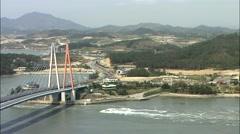 Bridge in Jindo-gun, Jeollanam-do, Korea Stock Footage