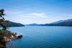 Hydroelectric dam lake, Banding, Temenggor Lake, Malaysia Stock Photos