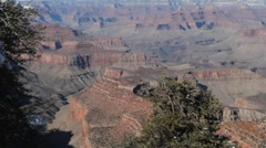 South rim of the Grand Canyon Stock Footage
