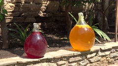 Traditional fermentation fruits beverages Stock Footage