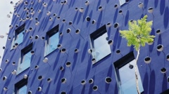 Barcelona, Spain : Unusual building with porcelain eyes on the Stock Footage