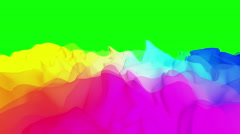 Abstract colorful drapery on green screen, 3D animation, seamless Stock Footage