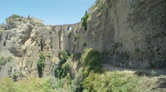 Landscape and Puente Nuevo (the New Bridge) in Ronda, Spain Stock Footage