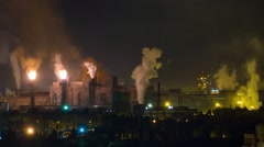 Smoke and fire at metallurgical plant Stock Footage