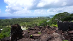 Viewpoint Huahine island French Polynesia Stock Footage