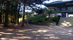 Traditional Temple of Pyeongchang-gun, Gangwon-do, Korea Stock Footage