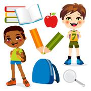 School Boys Stock Illustration