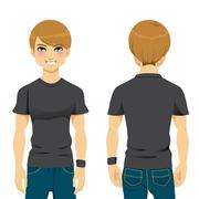 Handsome Man Tshirt Stock Illustration