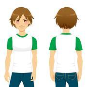 Handsome Man Tshirt - stock illustration