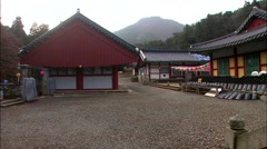 Temple in Tongyeong-si, Gyeongsangnam-do, Korea Stock Footage