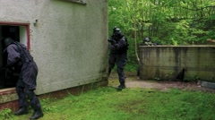 A Special Force Squad storm in a house. Stock Footage