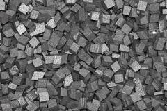 Black styrofoam pellets Stock Photos