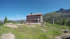 "Time lapse at mountain lodge ""Lagni Gemelli"" Stock Footage"