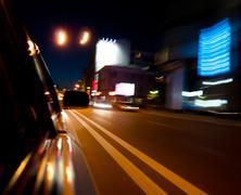 Horizontal vivid motion car speed abstraction background backdro - stock photo
