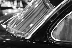Horizontal black and white retro car window detail background Stock Photos