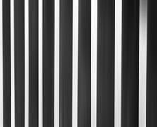 Vertical black andw white curtains abstraction backdrop - stock illustration