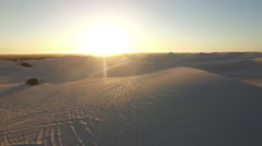 Aerial of Desert Dune Sunset in Atlantis, Cape Town Stock Footage