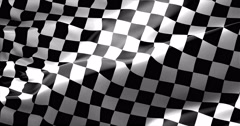 Checkered flag, end race background, formula one competition Stock Footage