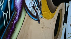 Graffiti on a fence, a background. Stock Footage