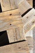 Wooden crate background Stock Photos