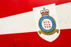Royal air force aerobatic team logo on Bae Hawk T1 - stock photo